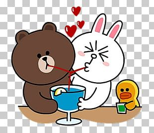 Brown Bear Line Friends Sticker Rabbit PNG