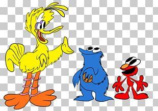Duck Big Bird Elmo Cookie Monster PNG