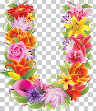 Letter Alphabet Flower Floral Design Fotolia PNG