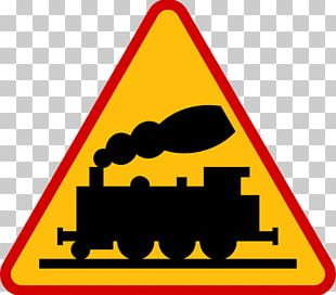 Rail Transport Warning Sign Level Crossing Road PNG