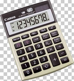 Calculator Electric Battery Canon LS-80 TEG Hardware/Electronic Number PNG