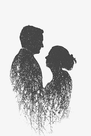 Couple Silhouette PNG
