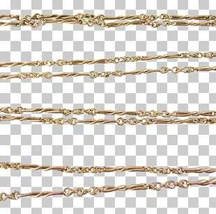 Rope Chain Gold Necklace Silver PNG