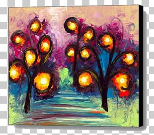 Acrylic Paint Modern Art Still Life Watercolor Painting PNG