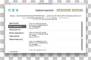 Keychain Access ICloud Password ElcomSoft Apple PNG