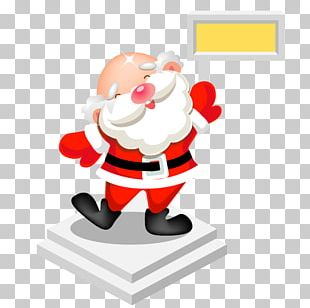 Fictional Character Christmas Ornament Figurine Santa Claus PNG