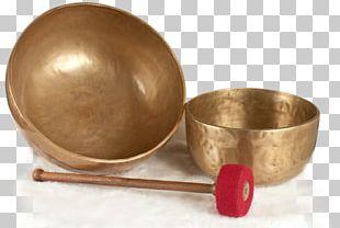 Standing Bell Bowl Sonoterapia Tibet Metal PNG