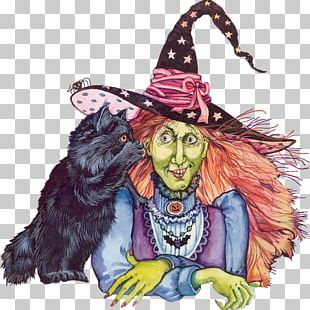 Witchcraft Halloween Message PNG