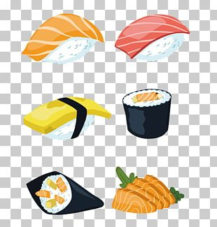 Sushi Japanese Cuisine Sashimi Salmon PNG
