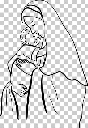 Child Jesus Drawing Madonna PNG