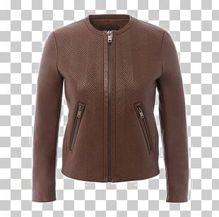 Sweater Zipper Flight Jacket Fashion Leather Jacket PNG