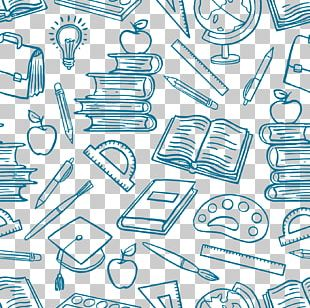 School Supplies Learning Illustration PNG