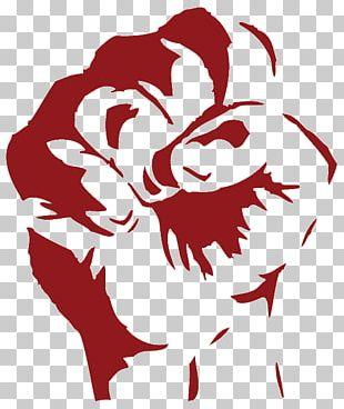 Stencil Graffiti Art Fist PNG