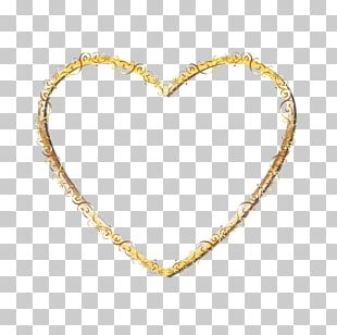 Right Border Of Heart Gold PNG