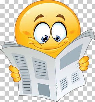 Emoji Emoticon Smiley Reading PNG