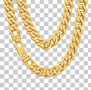 Chain Gold Necklace PNG