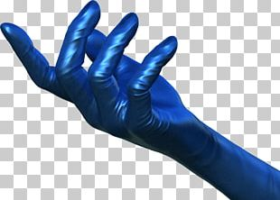Medical Glove Thumb Hand Blue PNG