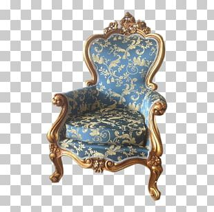 Wing Chair Antique Louis XVI Style Furniture PNG