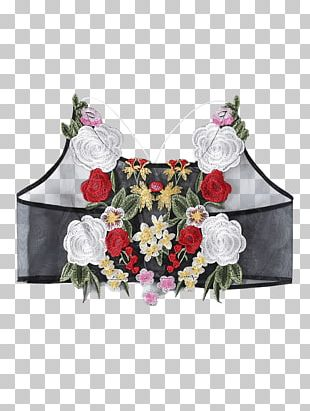 Floral Design T-shirt Sleeveless Shirt Crop Top PNG