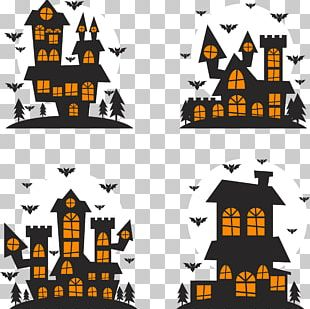 Halloween Silhouette Illustration PNG