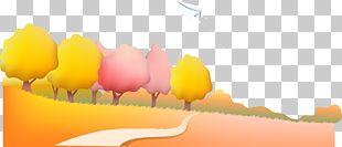 Paper Airplane Landscape Illustration PNG