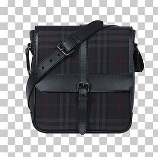 Messenger Bag Tartan Burberry Leather PNG