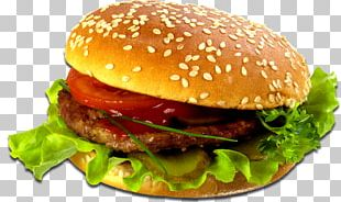 Hamburger Cheeseburger Fast Food French Fries Butterbrot PNG