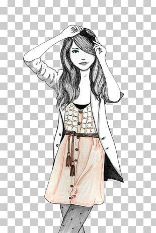 Fashion Illustration Drawing Sketch PNG