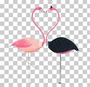 Flamingos Paper Drawing Illustration PNG