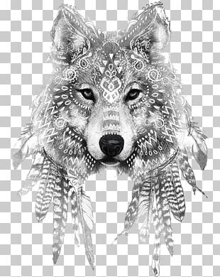 Gray Wolf Tattoo Ink Drawing Sleeve Tattoo PNG