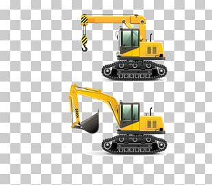 Heavy Equipment Architectural Engineering Vehicle Excavator PNG