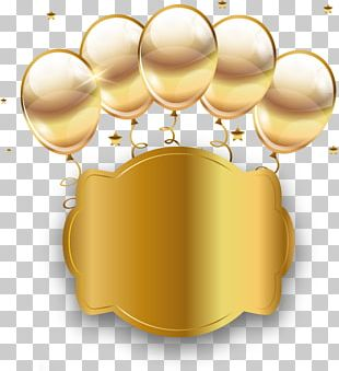 Balloon Gold RGB Color Model PNG
