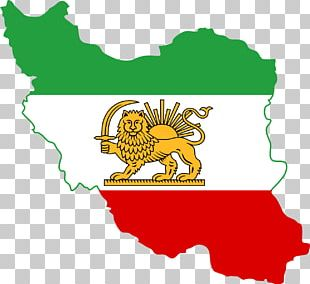 Flag Of Iran Greater Iran Lion And Sun PNG
