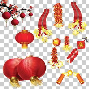 Lantern Festival Firecracker Chinese New Year PNG