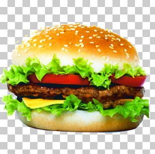 Veggie Burger Hamburger Patty Cheeseburger Fast Food PNG