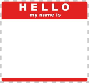 Paper Sticker Name Tag Label PNG