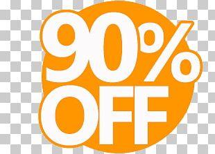 90% Discount Sticker PNG