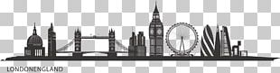 Central London Skyline Silhouette Painting City Of London PNG