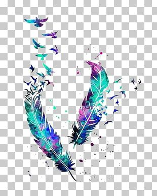 Bird Feather Tattoo Watercolor Painting Owl PNG