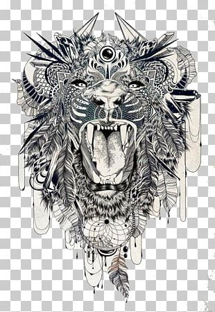 Lion Sleeve Tattoo Tiger Lower-back Tattoo PNG