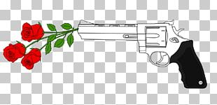 Gun Weapon Flower Firearm Floral Design PNG