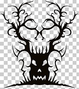 Spooky Tree Drawing PNG