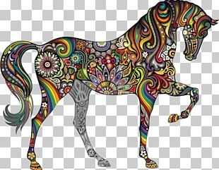 Horse Wall Decal Black Color Pattern PNG