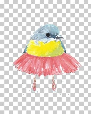 Bird Sparrow Watercolor Painting PNG