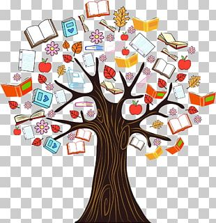 Book Tree Reading PNG