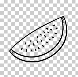Line Art Drawing Black And White Watermelon PNG