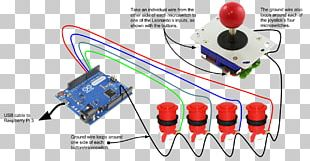 Joystick Arcade Game Raspberry Pi Arduino Game Controllers PNG