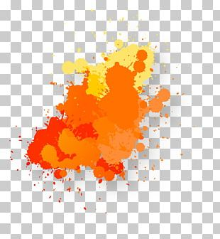 Orange Watercolor Painting PNG