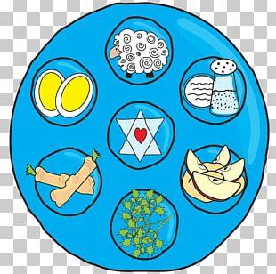 Charoset Matzo Passover Seder Plate PNG