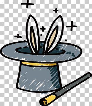 Hat Magic Rabbit Cartoon PNG